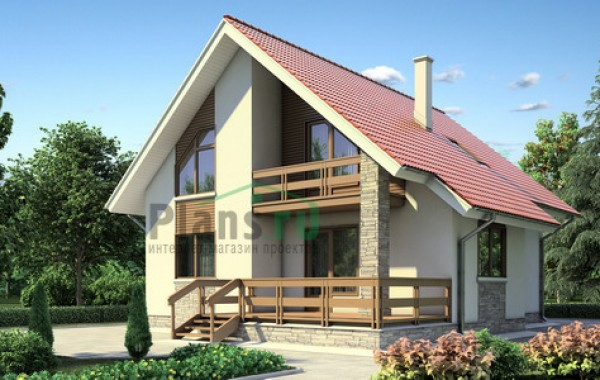 Проект кирпичного дома 70-98