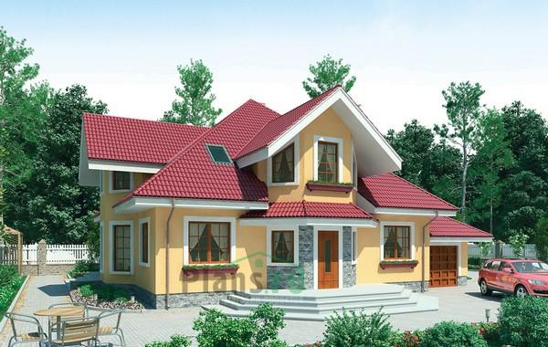 Проект кирпичного дома 71-08
