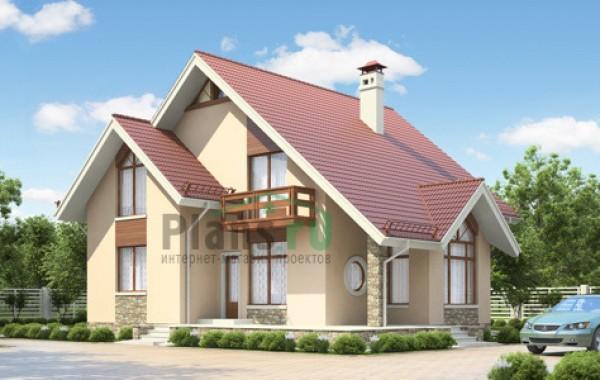 Проект кирпичного дома 71-20