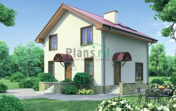 Проект кирпичного дома 71-24