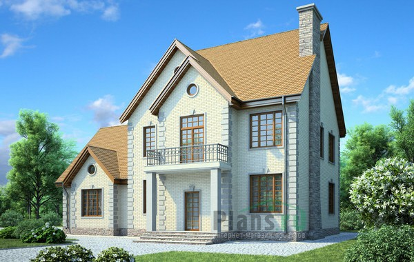 Проект кирпичного дома 71-41