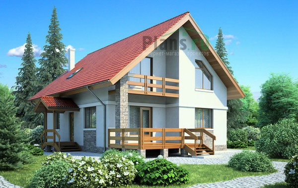 Проект кирпичного дома 71-44