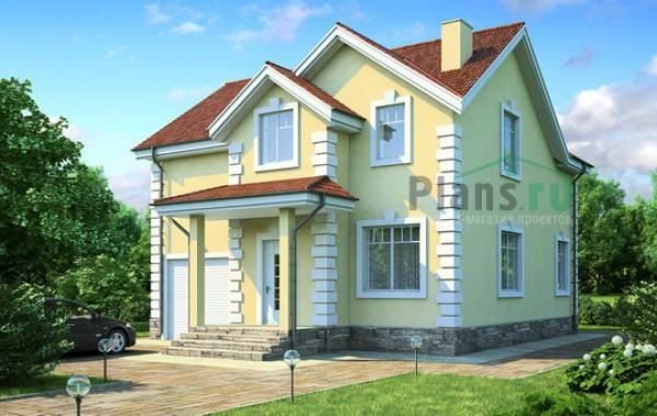 Проект кирпичного дома 71-50
