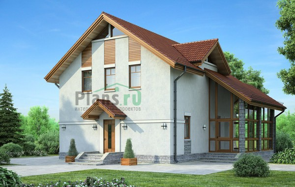 Проект кирпичного дома 71-75
