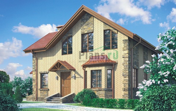 Проект кирпичного дома 71-83