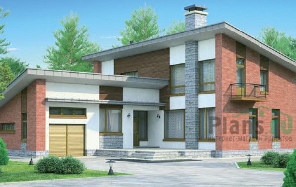 Проект кирпичного дома 71-87