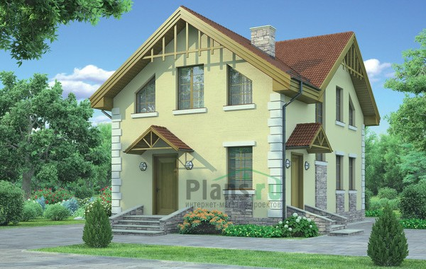 Проект кирпичного дома 71-91