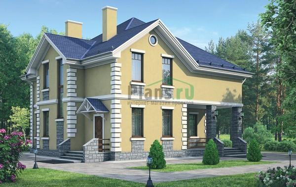 Проект кирпичного дома 71-95