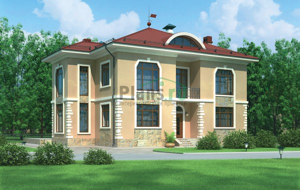 Проект кирпичного дома 72-08