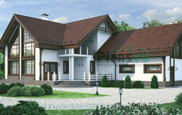 Проект кирпичного дома 72-11