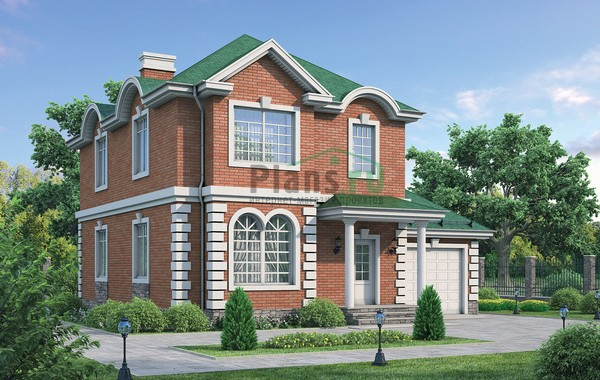 Проект кирпичного дома 72-16