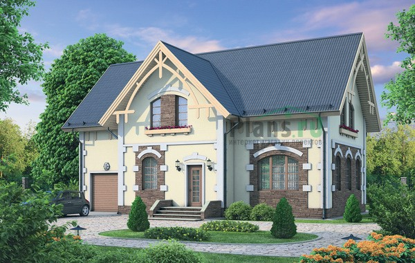 Проект кирпичного дома 72-18