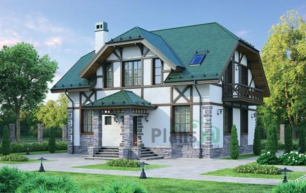 Проект кирпичного дома 72-22