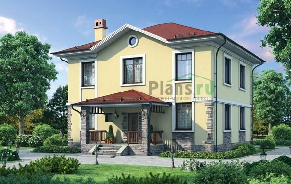 Проект кирпичного дома 72-30
