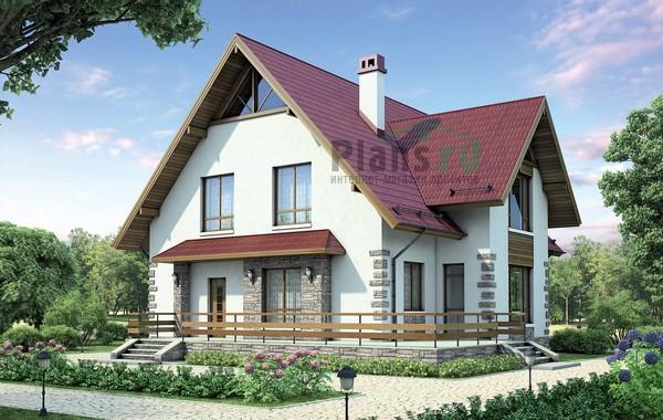 Проект кирпичного дома 72-44