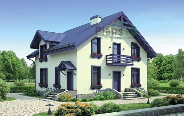 Проект кирпичного дома 72-45