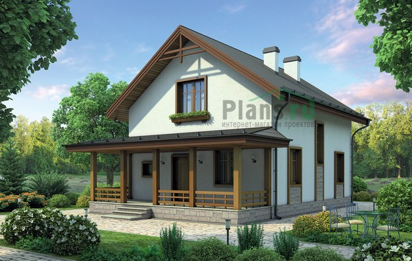 Проект кирпичного дома 72-46