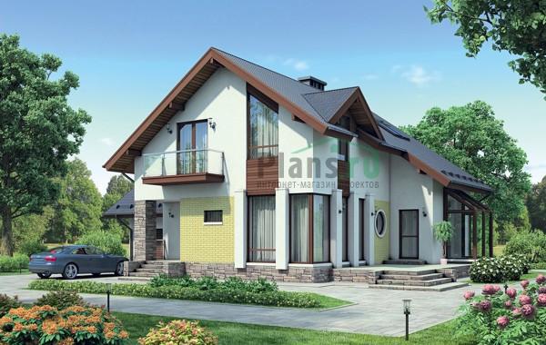 Проект кирпичного дома 72-54