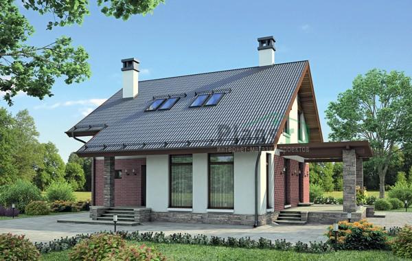 Проект кирпичного дома 72-57