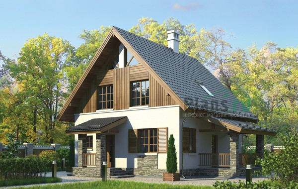 Проект кирпичного дома 72-62