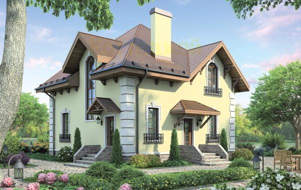 Проект кирпичного дома 72-65