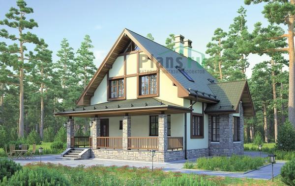 Проект кирпичного дома 72-66