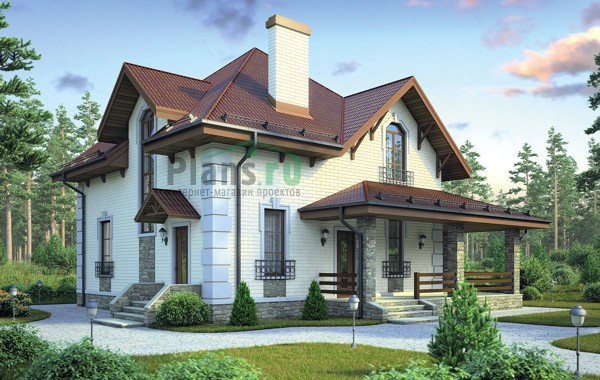 Проект кирпичного дома 72-79