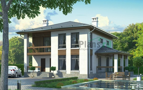 Проект кирпичного дома 72-81