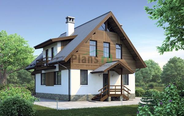 Проект кирпичного дома 72-89