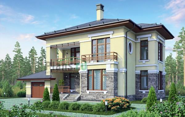 Проект кирпичного дома 72-90