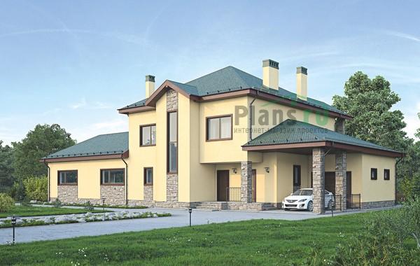Проект кирпичного дома 72-92