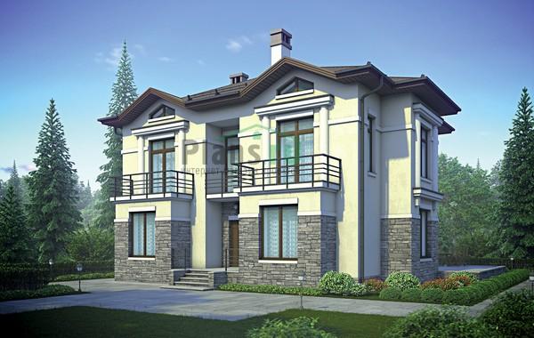 Проект кирпичного дома 72-95