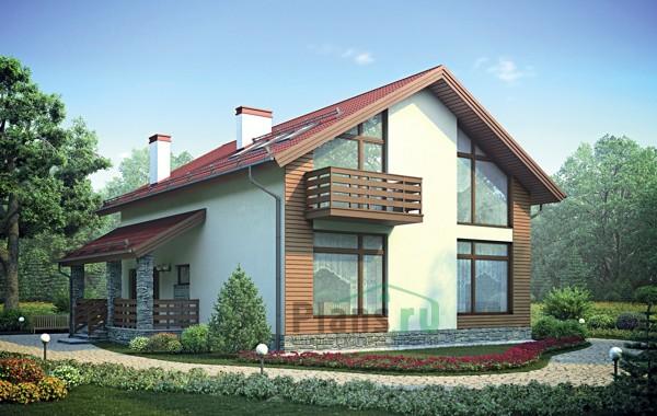 Проект кирпичного дома 72-98