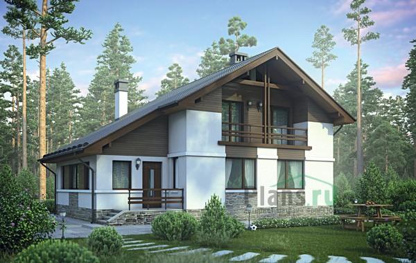 Проект кирпичного дома 73-00