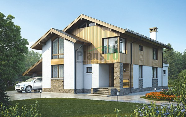 Проект кирпичного дома 73-08