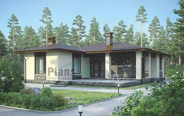 Проект кирпичного дома 73-13