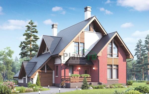 Проект кирпичного дома 73-16