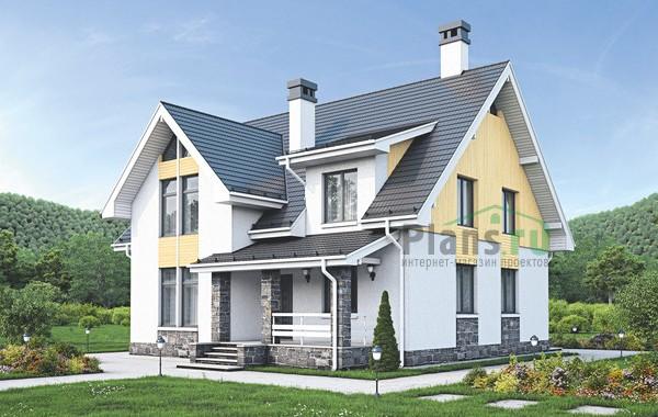 Проект кирпичного дома 73-24