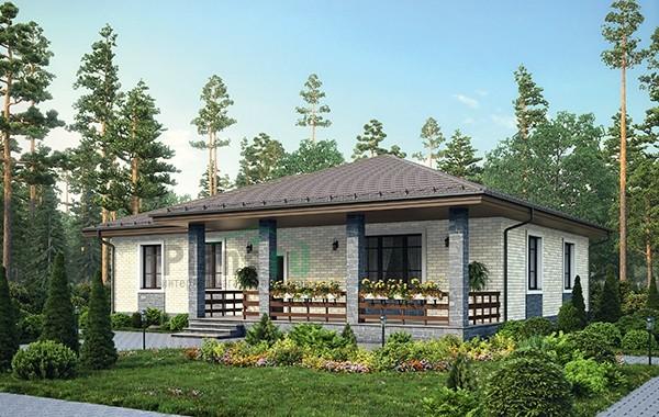 Проект кирпичного дома 73-37