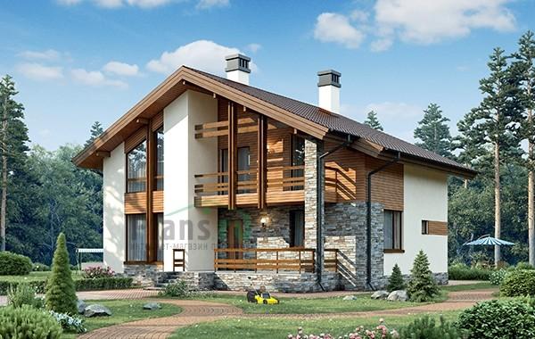Проект кирпичного дома 73-38