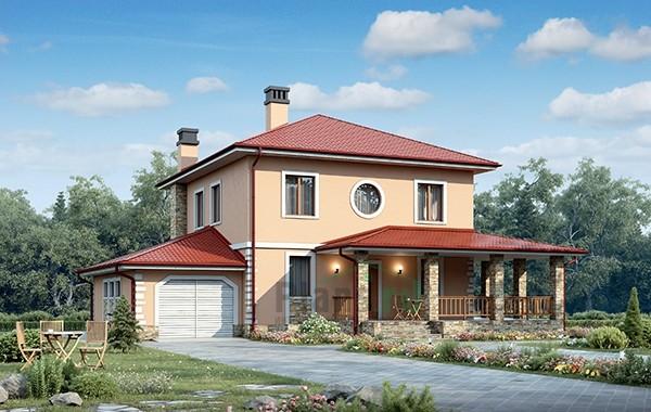Проект кирпичного дома 73-39
