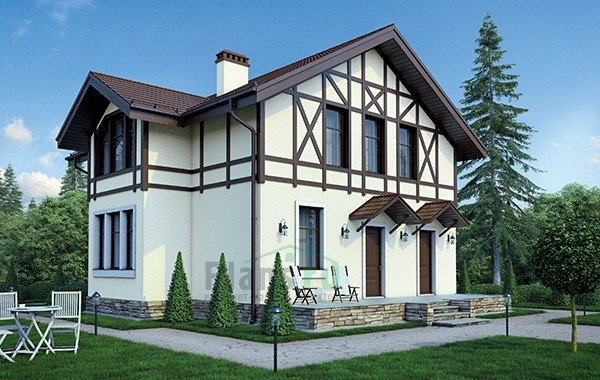 Проект кирпичного дома 73-48