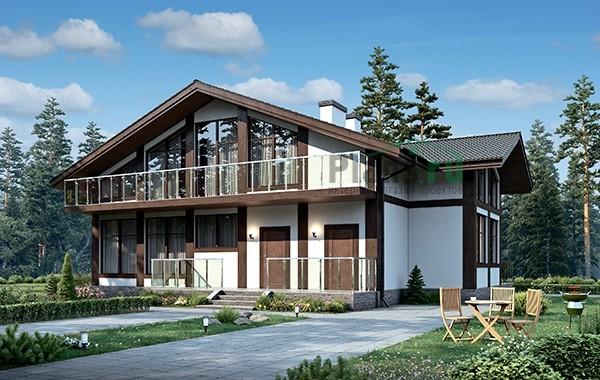 Проект кирпичного дома 73-54