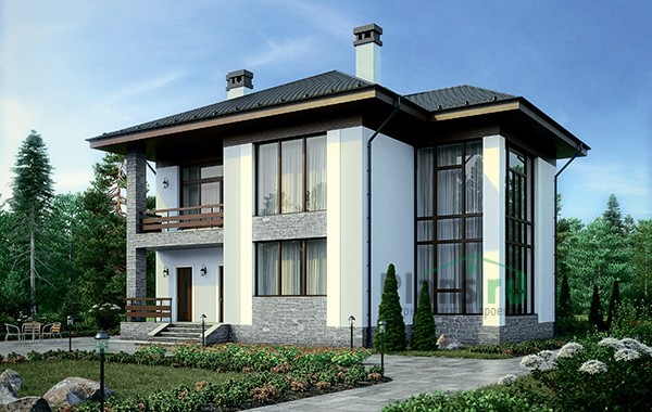 Проект кирпичного дома 73-57