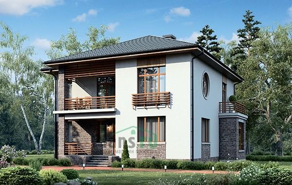 Проект кирпичного дома 73-58