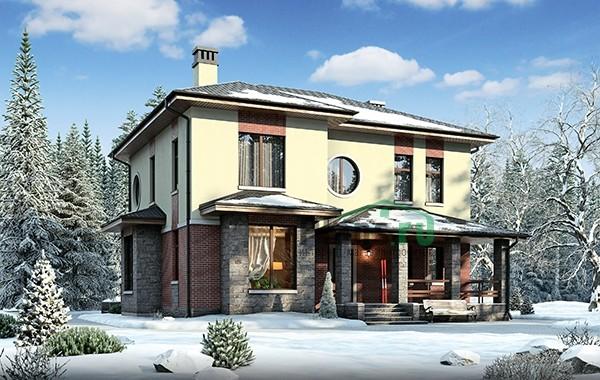 Проект кирпичного дома 73-62
