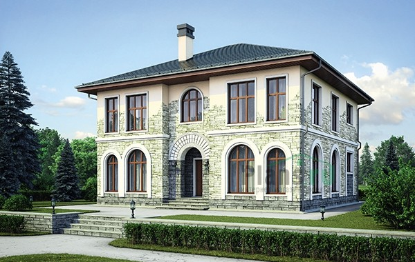 Проект кирпичного дома 73-70