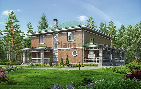 Проект кирпичного дома 73-75