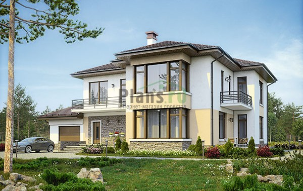 Проект кирпичного дома 73-80