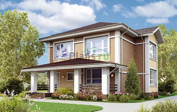 Проект кирпичного дома 73-85